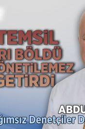 Mali Müşavir Odalarında Nispi Temsil Sisteminden Kaynaklı Sorunlar | BADED Başkanı Abdullah Çavuş
